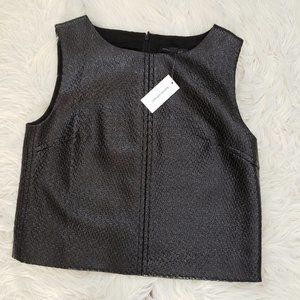 NWT Banana Republic Faux Leather Crop Top